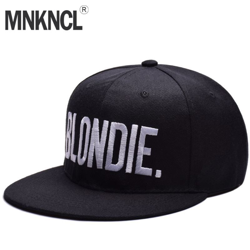BLONDIE BROWNIE Letter Embroidery Snapback Hats Flat Bill Men Women Acrylic Gifts Baseball Cap For Him Her Trucker Hip Hop Hats rosicil letter hats gorros bonnets cocain