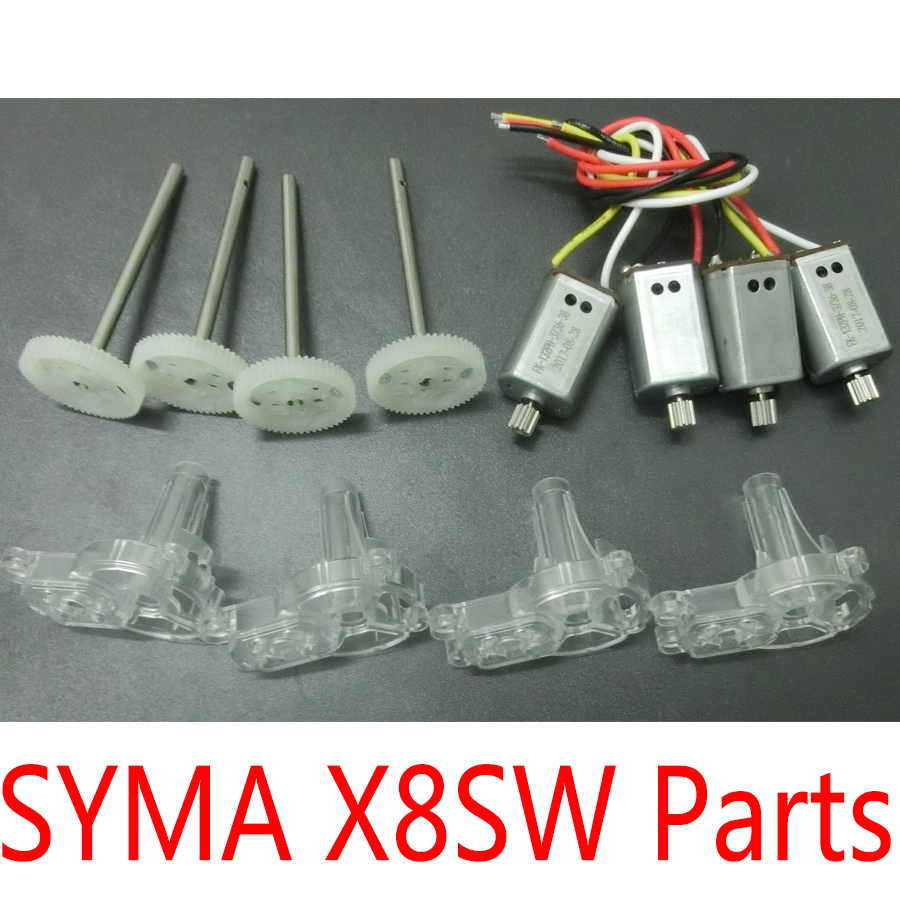 SYMA Spare Parts For X8SW X8SC Drone Main Gear Motors Engines Frame Free Shipping spare parts e200b main pump solenoid valve excavator spare parts 096 5945 free shipping