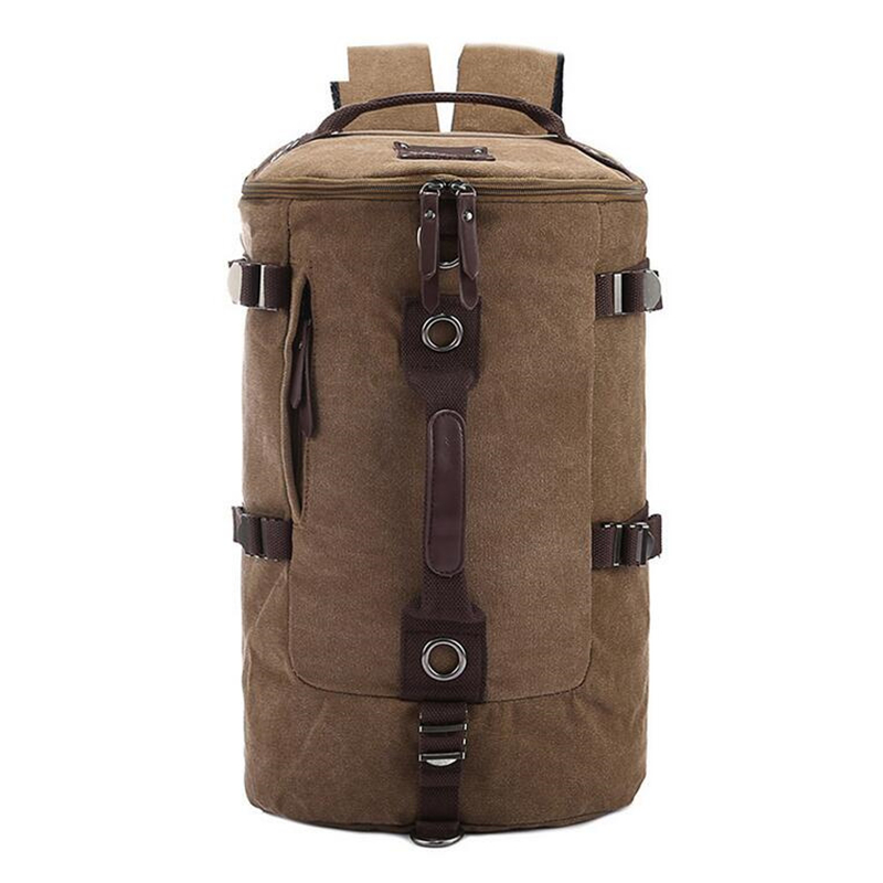 Winmax Large Capacity Men's Bag Mountaineering Backpack male camping tourist Travel Cylinders Canvas Cylinder Hiking Dailypack