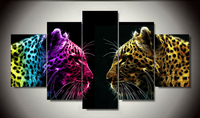 2016 Cuadros Decoracion Unframed Printed Leopard 5 Piece Picture Painting Wall Art Room Decor Canvas For