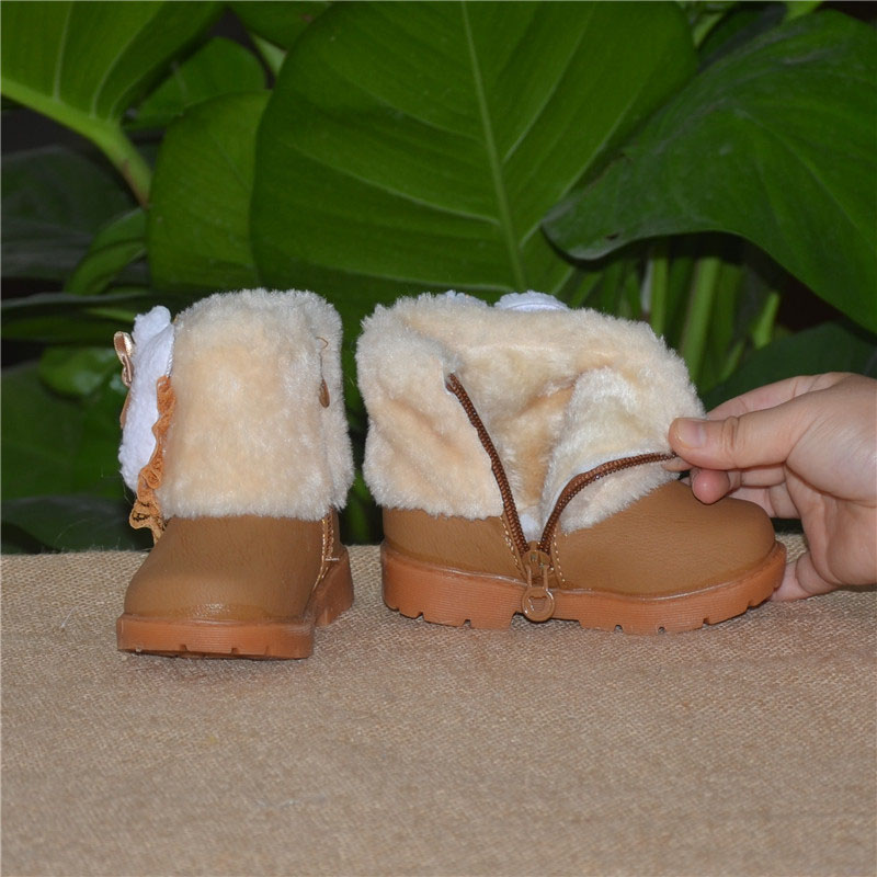 Winter-Childrens-Warm-Snow-Boots-Girls-Rabbit-PU-Leather-Platform-Winter-Boots-Princess-Short-boots-Kids-Winter-shoes-4