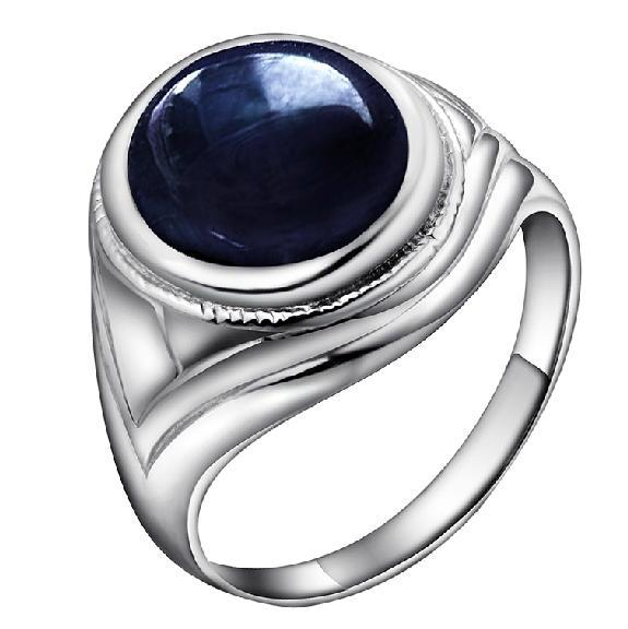 Beautiful oval Egg Cut Natural Sapphire Men Ring Homme Male In 925 Sterling Silver Birthday Gift Birthstone Jewelry SR0326SBeautiful oval Egg Cut Natural Sapphire Men Ring Homme Male In 925 Sterling Silver Birthday Gift Birthstone Jewelry SR0326S