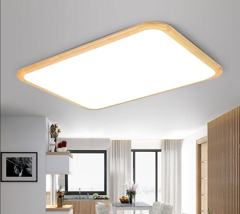 Japanese Tatami Led Ceiling Lamp Bedroom Ultra Thin: Japanese Style Nordic Solid Wood Ultra Thin Apple Led