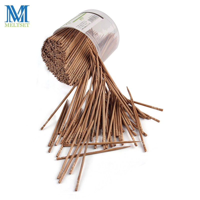 800 Pcs/lot Disposable Toothpick Natural Bamboo Stick Carbonated Wood Toothpicks For Home Restaurant Hotel Tableware Decoration(China)