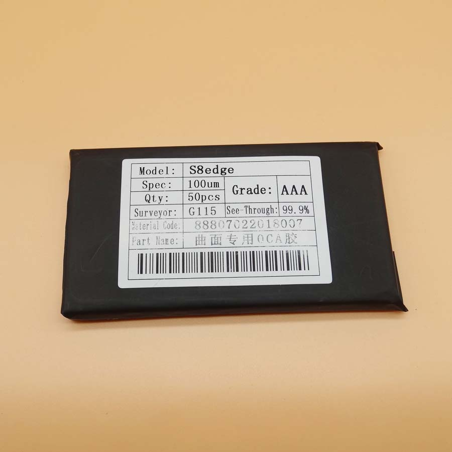 50pcs bag 100um hybrid OCA film glue For samsung S6 S7 S8 S9 edge S8 S9