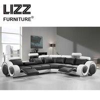 Lizz диван для отдыха наборы ухода за кожей мебель дома пояса из натуральной кожи диваны гостиная современный Divani дивани