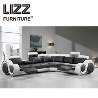Lizz Leisure Sofa Sets Home Furniture Genuine Leather Sofas For Living Room Modern Divani Couch