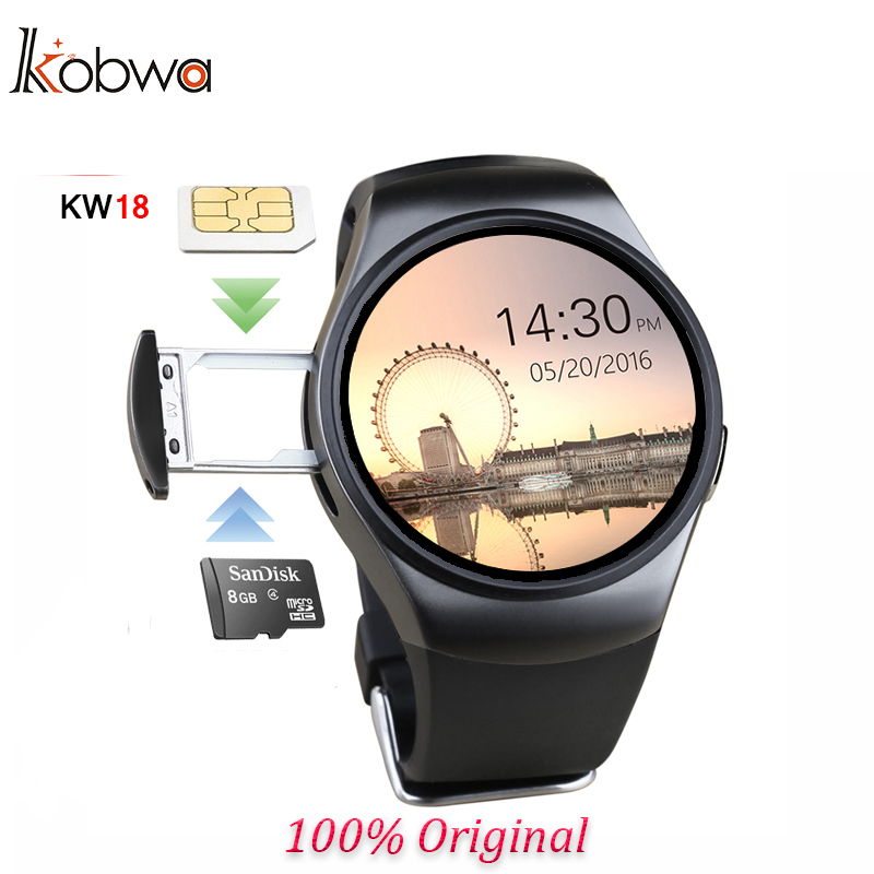 ФОТО Hot Sale Kw18 Bluetooth Smart Watch Full Screen Support Sim Tf Card Smartwatch Phone Heart Rate Monitor For Ios Andriod Phone