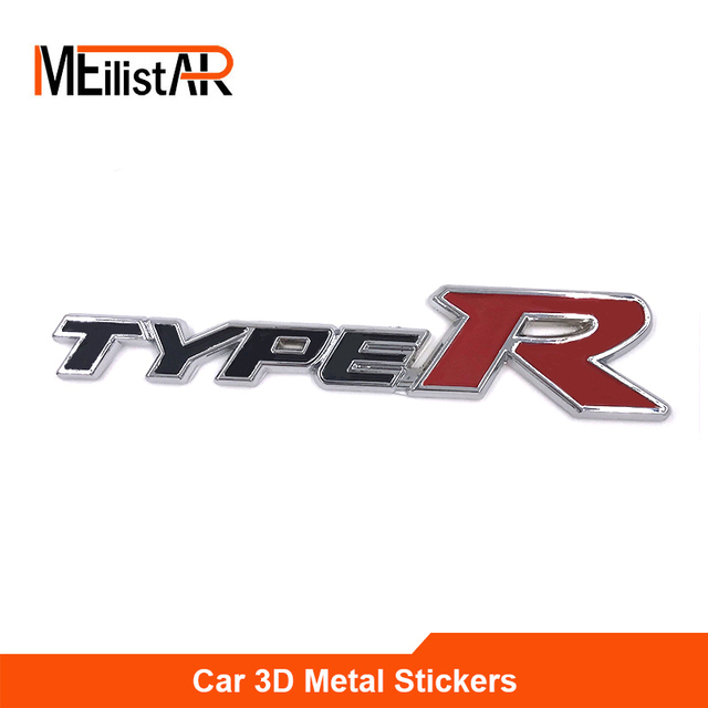 2017 car styling 3d typer type r racing emblem badge logo decal sticker stickers for honda