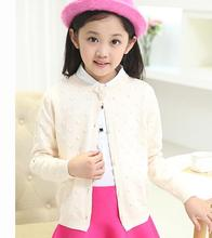 2017 autumn children's clothes girls sweaters causal solid bow long sleeve baby girl knitted cardigan sweaters for girls kids