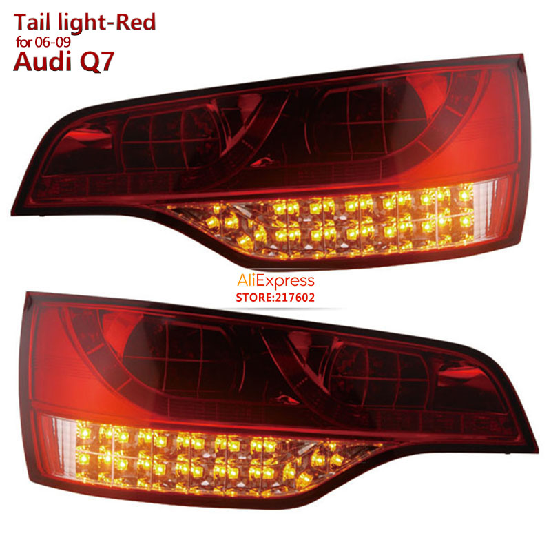 SONAR Brand for Audi Q7 LED Rear lights assembly fit 2006-2009 year Red Housing Ensure High Quality and fitment LED turn lights