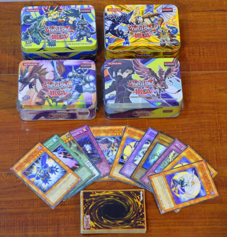 41pcs Yugioh Cards With Metal Box English Version Genuine Rare The Strongest Damage Game Collection Cards Toy