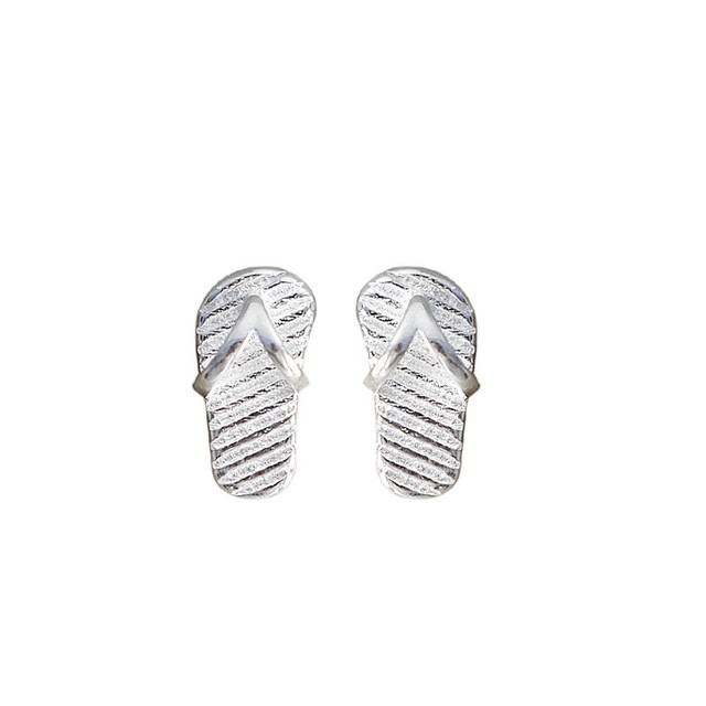 Charm Silver All Match Romance Exquisite Trendy Flip Flops Ear Studs ...