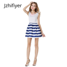 women dress fashion mujer vestidos feminine sailor style summer casual students stripe