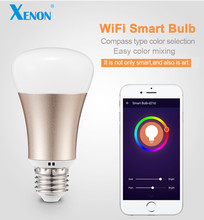 Xenon Smart Home Bulb Wireless wifi LED RGB Light Bulb Lamp Color Changing via WiFi App Remote Control