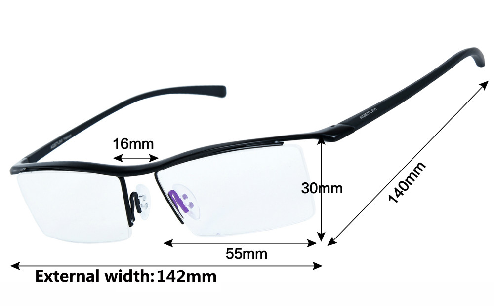 4d7a421f68 Agstum Womens Mens Pure Titanium Half Rimless Business Glasses Frame  Prescription Eyeglasses Clear Lens Computer Glasses 8129-in Eyewear Frames  from Apparel ...