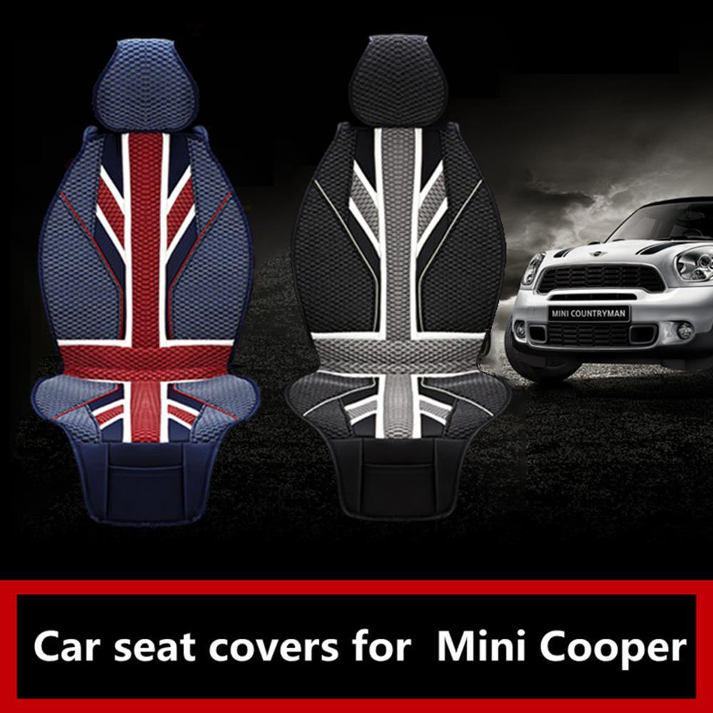 Mini cooper rubber floor mats uk - Aliexpress Com Buy Luxury Union Jack Uk Flag 3d Ice Slik Pvc Car Seat Covers For Bmw Mini Cooper F56 F55 R60 R59 R61 Hatchback Clubman Countryman From