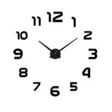 E-COEUS Acrylic+Eva Wall Clocks Single Face Circular Antique Style 9 mm Sheet  Decorate Living Room L Clock Home Decor