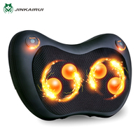 JinKaiRui Neck Pillow Massager Shiatsu Deep Kneading Massage With Heat For Relieving Back Neck And Shoulder