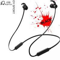 HuanYun Bluetooth Earphone Wireless Double Battery Bluetooth Headphone Headset Stereo Bass Neckband Sport Magneticwith Mic
