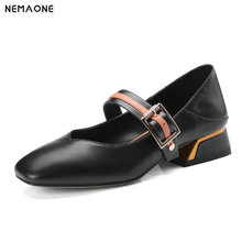 NEMAONE 2019 Handmade Women Shoes Genuine Leather mary janes Soft Comfortable Shoes Woman Casual Shoes Women
