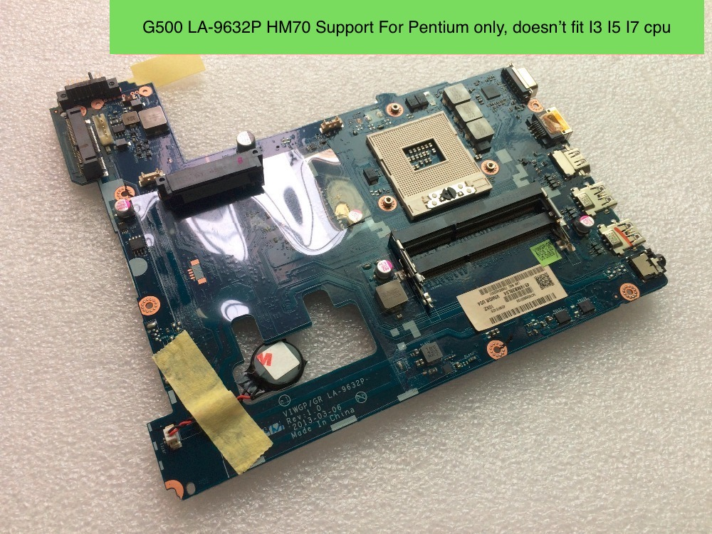 Free Shipping New LA-9632P G500 Motherboard For Lenovo G500 Notebook PC HM70 nokotion notebook pc motherboard for lenovo ideapad g500 main board system board viwgpgr la 9632p hm76 ddr3