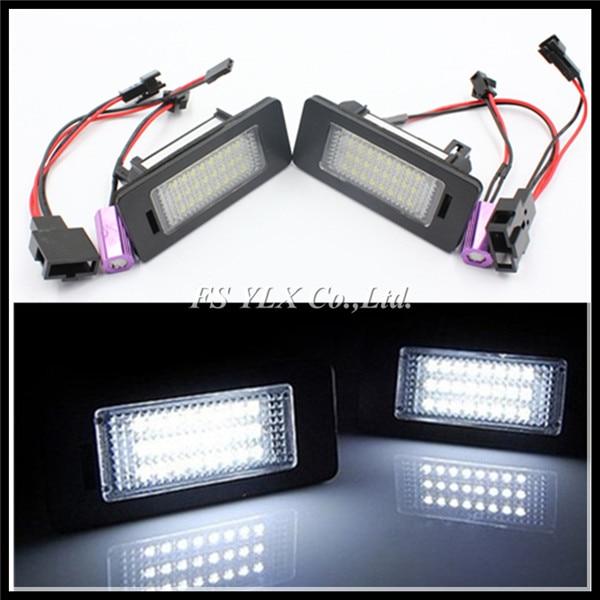 24SMD LED License Number Plate Light Lamp for AUDI Q5 A4 S5 A5 TT Canbus error free for AUDI Q5 A4 S5 A5 LED License Plate Light dali opticon 5 walnut