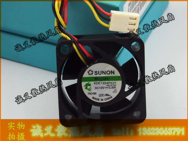 Free Shipping For SUNON KDE1204PKV1 MS.AF.GN 40x40x20mm 40mm 4cm DC12V 0.8W Server Cooling Fan Server Square Cooling Fan 3-wire free shipping emacro mechatronics f1238h12b1 dc 12v 0 440a 3 wire 3 pin connector 110mm 120x120x38mm server cooling square fan
