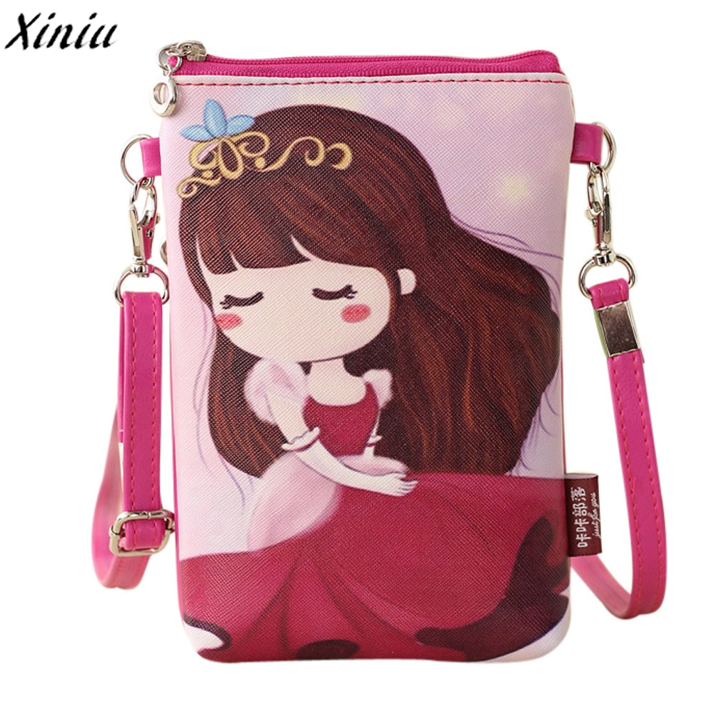 Mini Shoulder Bags Cartoon Girl Small Fresh Handbags Kids Kawaii Crossbody Messenger Bag Malas De Mulher *7630 girls mini messenger bag cute plush cartoon kids baby small coin purses lovely baby children handbags kids shoulder bags bolsa