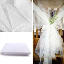 Ucuz! 48cm * 5 metre şeffaf kristal organze tül rulo kumaş Draping düğün töreni parti ev dekorasyon yeni yıl dekorasyon