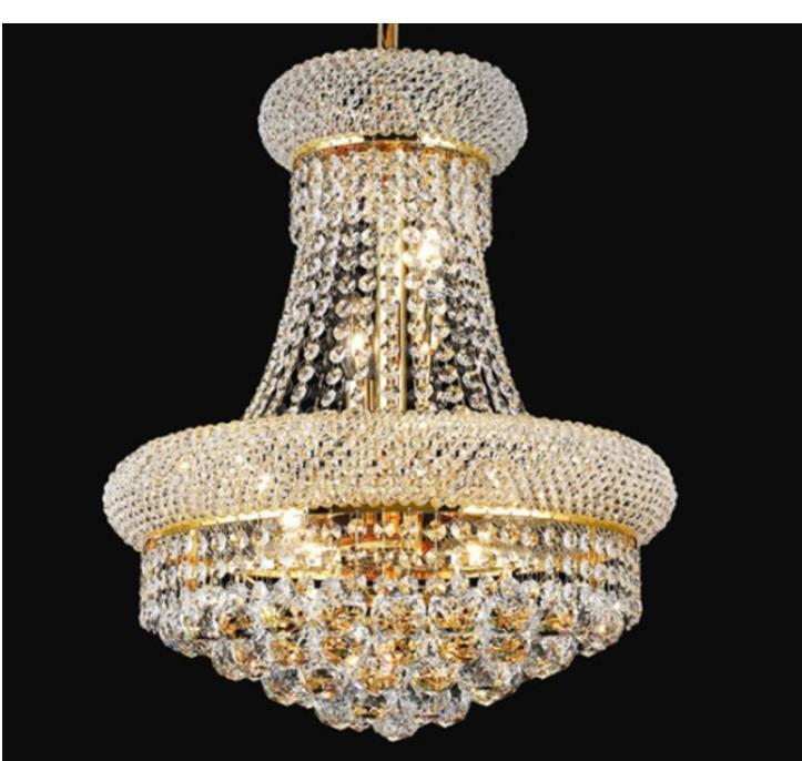 Lighting French Empire Gold Crystal Chandelier Chrome Chandeliers Lighting Modern Chandeliers Light+Free shipping