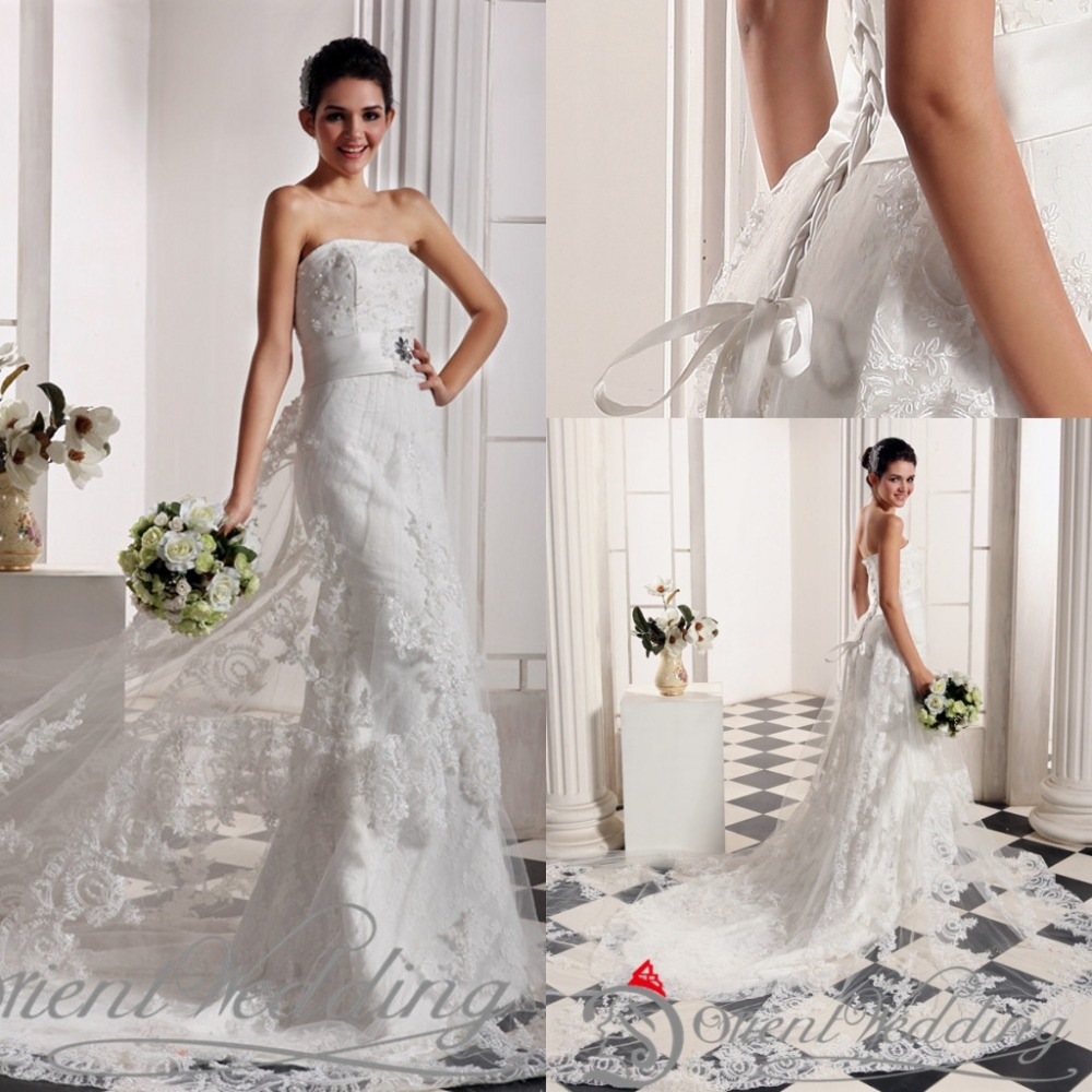 Real Picture Beaded New Strapless Crystal Elegant China