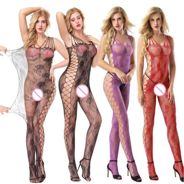 Brand GOYHOZMI High Quality Women Stockings Hot Much-loved Floral Motif Mesh Body Black Stockings Full Body