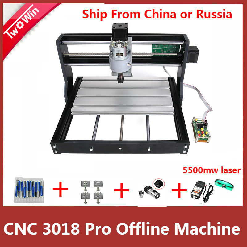 CNC 3018 PRO DIY Mini CNC Machine With Offline Controller GRBL Control ,3 Axis Pcb Milling Machine,Wood Router Laser Engraving