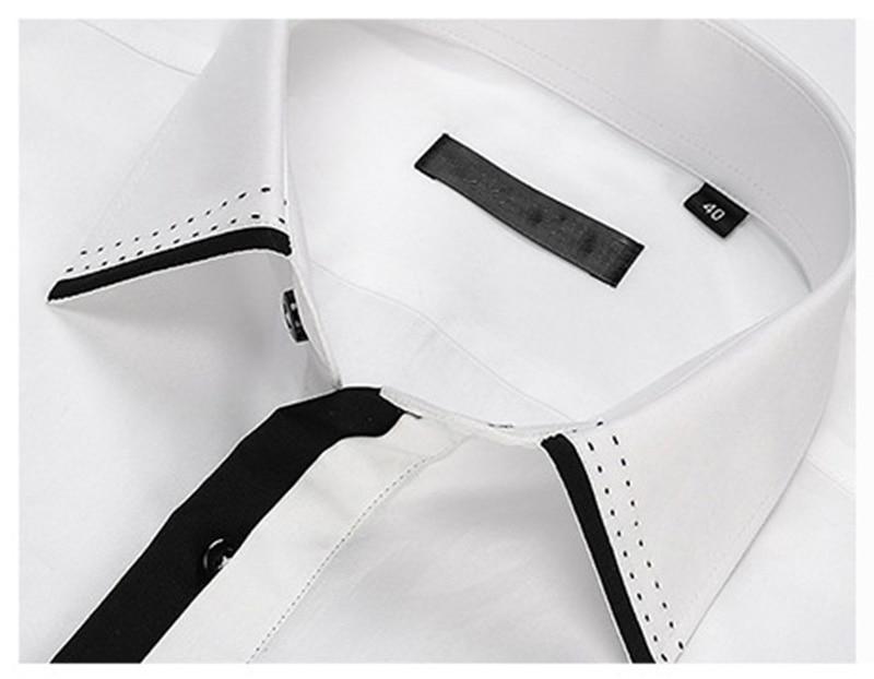 Causalité Mâle Blanc Hommes Manches Pour À Chemise Sociale Courtes Vêtements Masculina Taille Chemises Marque Camisa De La Coton Plus r8rxqF