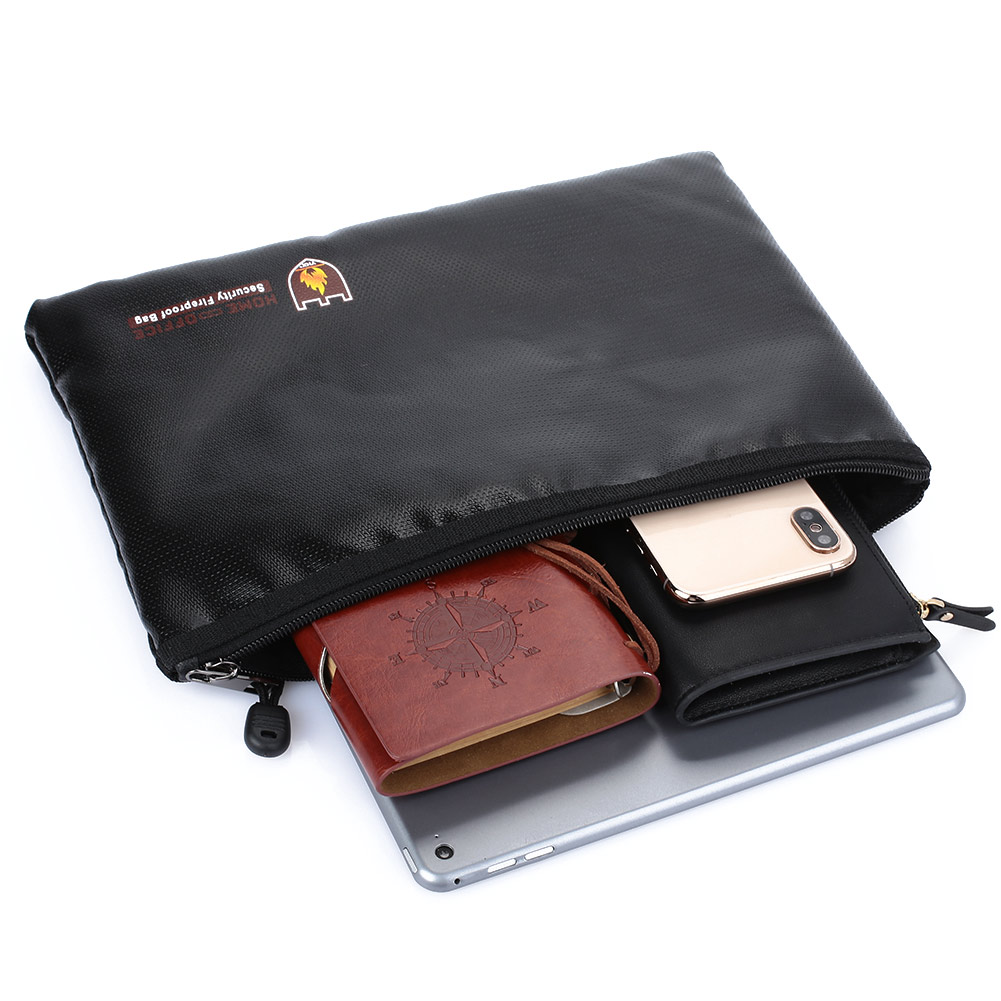 Fireproof Anti Fire File Pouch Money Durable File Envelope Double-Sided Business Fireproof Document Bag Valuables