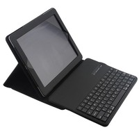 Wireless Bluetooth Keyboard PU Leather Cover Protective Smart Case For Apple IPad 2 IPad 3 Ipad