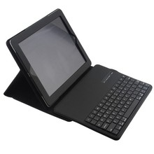 Wireless Bluetooth Keyboard +PU Leather Cover Protective Smart Case For Apple iPad 2 iPad 3 ipad 4 9.7 inch Case + Film +Stylus