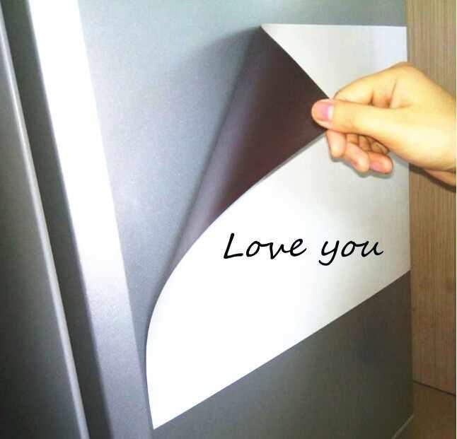 A4 Size Magnetische Whiteboard Magneten voor Koelkast Droog vegen Bericht White Board Marker Pen Gum Notepad Decor