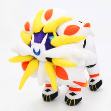 25cm XY Anime Pokeball Sun And Moon Solgaleo Radiant Phase La-liona The sun of the beast Plush Soft Stuffed Dolls For Kids