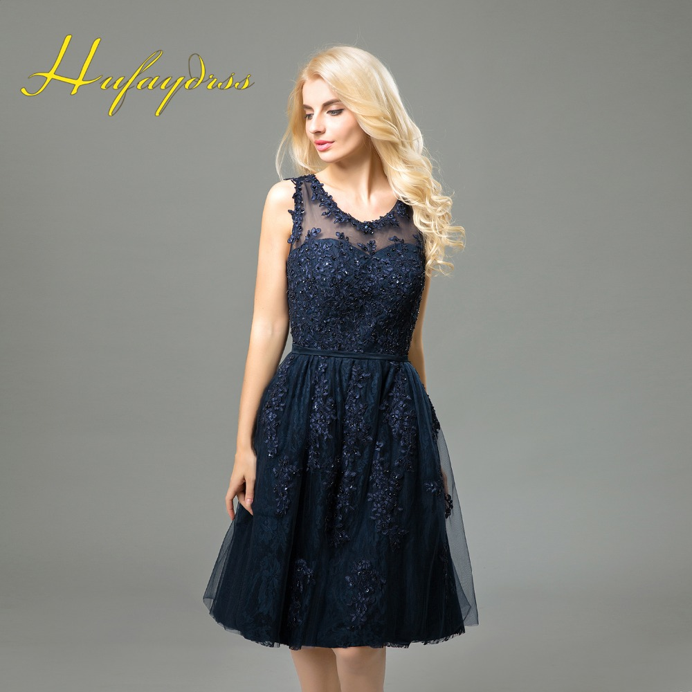 Navy blue bridesmaid dresses short 2017 lace applique beaded knee navy blue bridesmaid dresses short 2017 lace applique beaded knee length maid of the honour dress for wedding party 12211430 in mother of the bride dresses ombrellifo Images