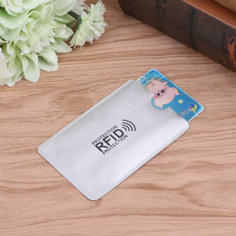 Anti-Scan Card Sleeve Credit Rfid Card Protector Anti-Magnetische Aluminiumfolie Draagbare Bank Kaarthouder