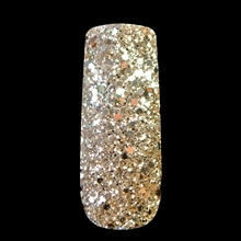 Nail Art Glitter Powder Tyrant Gold Hexagonal Sequins Dust Mix Size Flash Acrylic Manicure 265