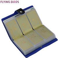 FLYING BIRDS Card Holder Brand High Quality Women Men Card Bags Name ID Business Leather 156