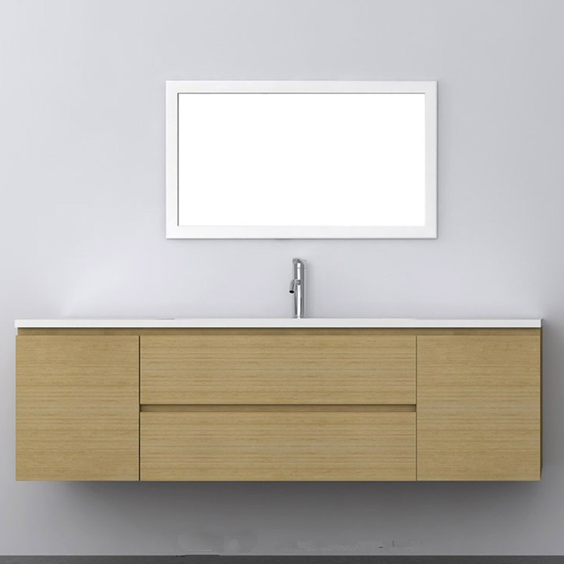 1400mm Bathroom Furniture Blum 2 Drawers 2 Side Doors Top Solid Surface Vanity Cloakroom Wall Hung Cabinet 2209