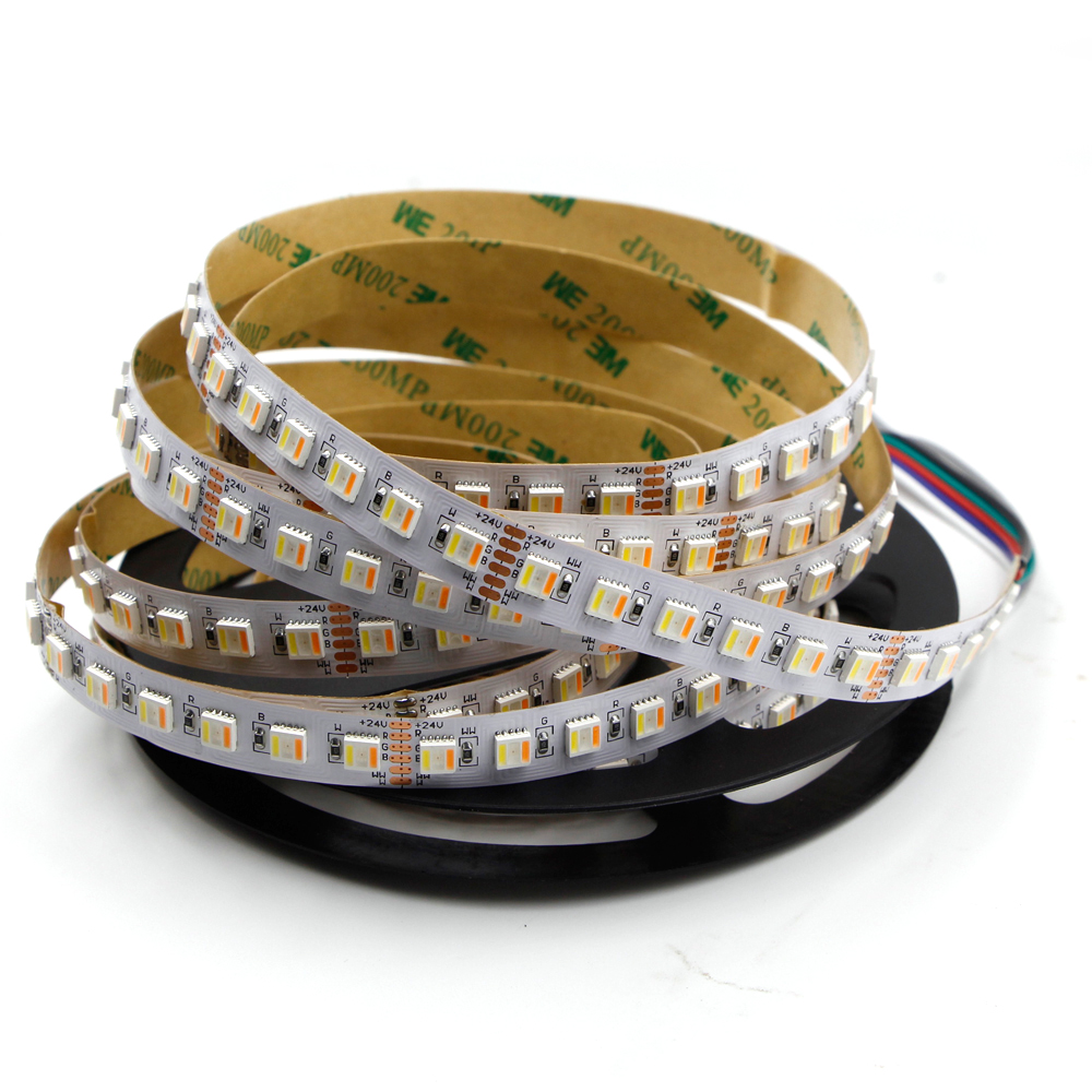цена на 5M 480 300 Led Tape 5IN1 chip RGB CCT RGBW 5050 SMD waterproof Led Stripe Bar Light String Holiday Decoration Lights 12V 24V