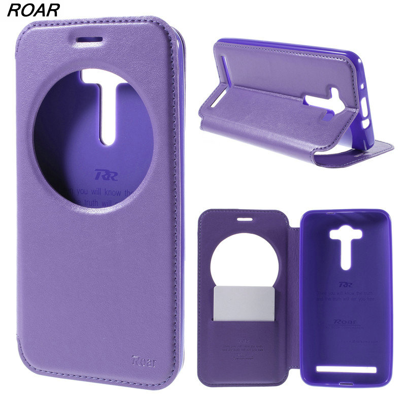 For Asus Zenfone 2 Laser Case ROAR KOREA Noble Leather View Case Cover for Asus Zenfone 2 Laser ZE550KL ZE551KL
