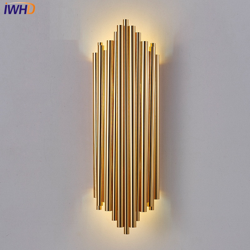 IWHD Nordic Simple Modern LED Wall Light Fixtures Industrial Wind Wall Sconce Creative Bedside wall Lamp Home Indoor Lighting creative led wall lighting modern reading bedside lamp telescopic wall lamp robotic arm e14 incandescent wall lamp