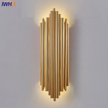 IWHD Nordic Simple Modern LED Wall Light Fixtures Industrial Wind Wall Sconce Creative Bedside wall Lamp Home Indoor Lighting