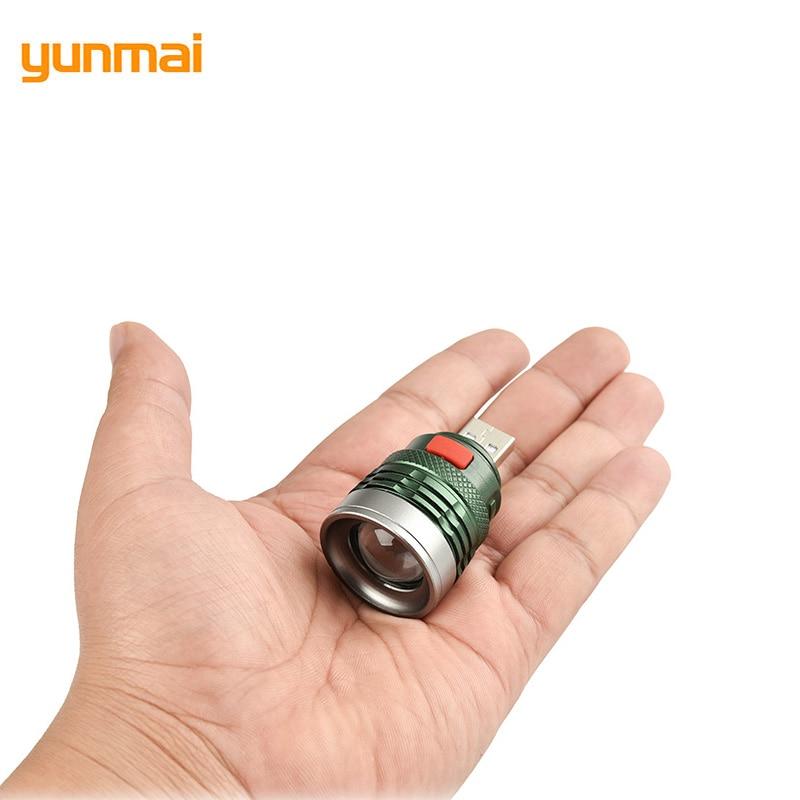 yunmai 2019 Mini Usb LED Flashlight NEW Q5 Aluminum Work Light 2000LM Waterproof Lanterna 3 Modes Portable LED Torch Lamp
